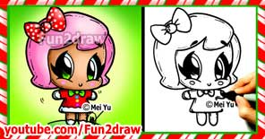 Learn to draw this cute gingerbread girl for the Christmas seasonon Youtube!
