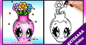 Learn to draw this pretty flower vase, great for Mother's Day!