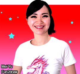 Young female artist Mei Yu, creator and instructor of the Fun2draw YouTube art channel.