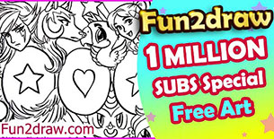 Suggestion: Fun2draw 1 Million Subscribers special colouring page gift