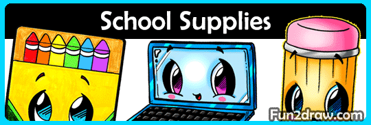 Cute and kawaii school supply how to draw videos for school classes and back to school