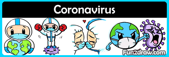 Drawing art videos about doctors and the fight against COVID-19 Coronavirus